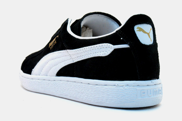 puma black suede shoes
